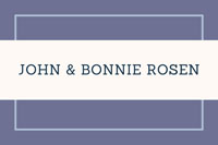 John and Bonnie Rosen